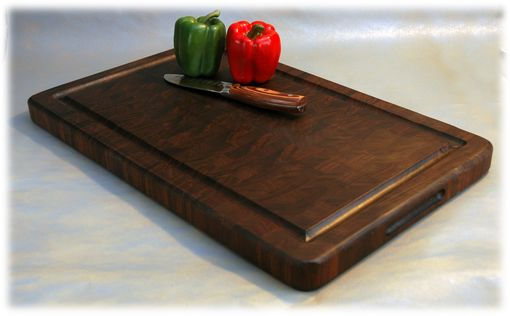 Custom Made End-Grain Black Walnut Cutting Board (Butcher Style)