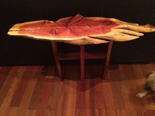 Custom Made Live Edge Red Cedar Coffee Table
