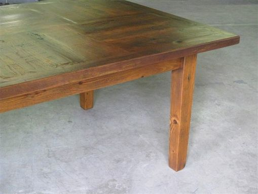 Custom Made Custom Made 12 Foot Dining Table With Square Custom Inlay