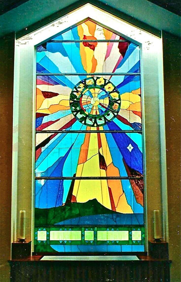 Hand Made Stained Glass Church Window Lokahi Unity By Caron Art