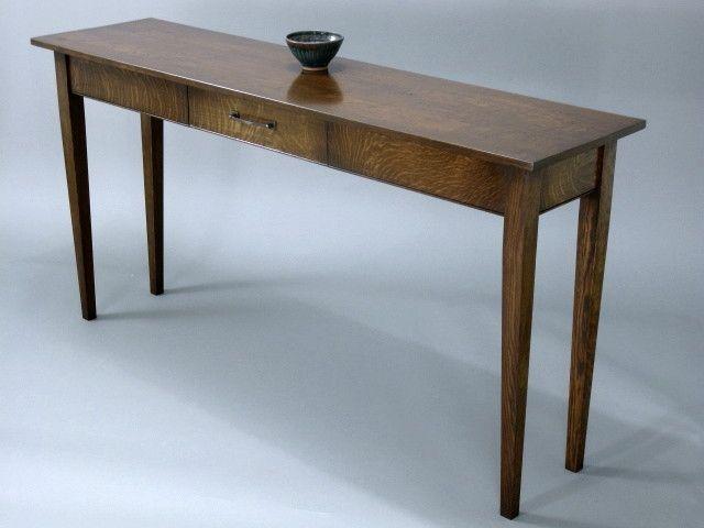 Oak Sofa Table Custom Quartersawn White Oak Sofa Tablerin Vinson Millworks .