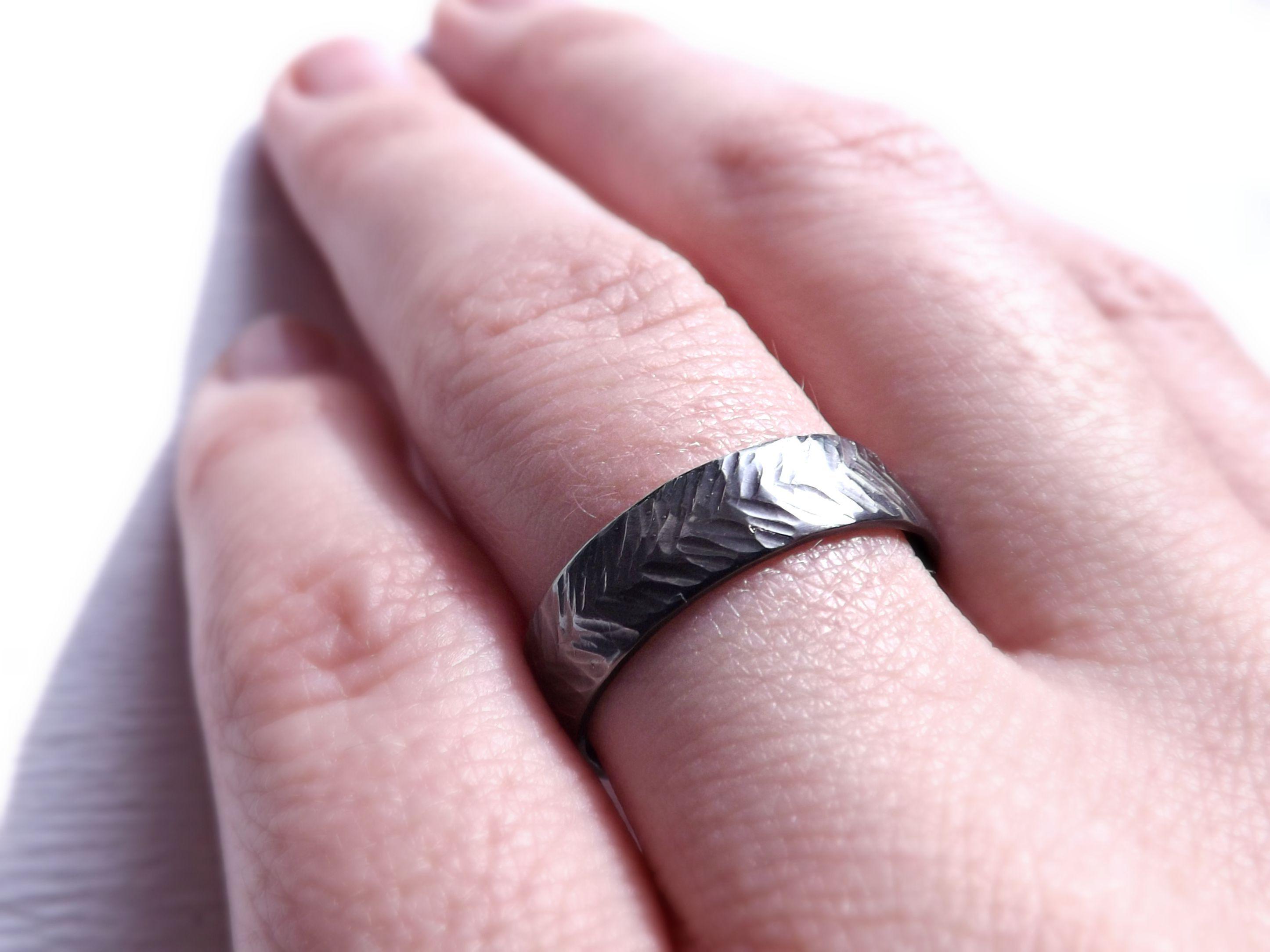 Buy A Handmade Chevron Wedding Ring Silver Sterling Silver Ring