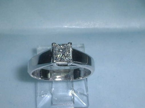 Custom Made Princess Diamond Engagement Ring