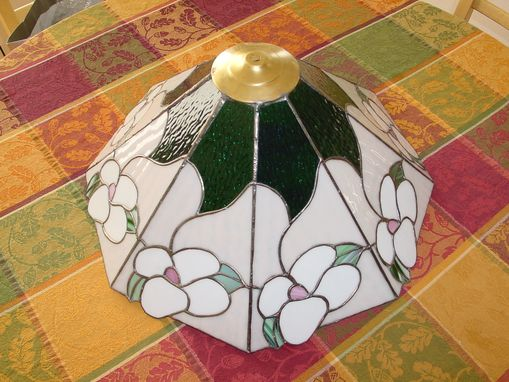 Custom Made Dogwood Tiffany Style Stained Glass Lampshade