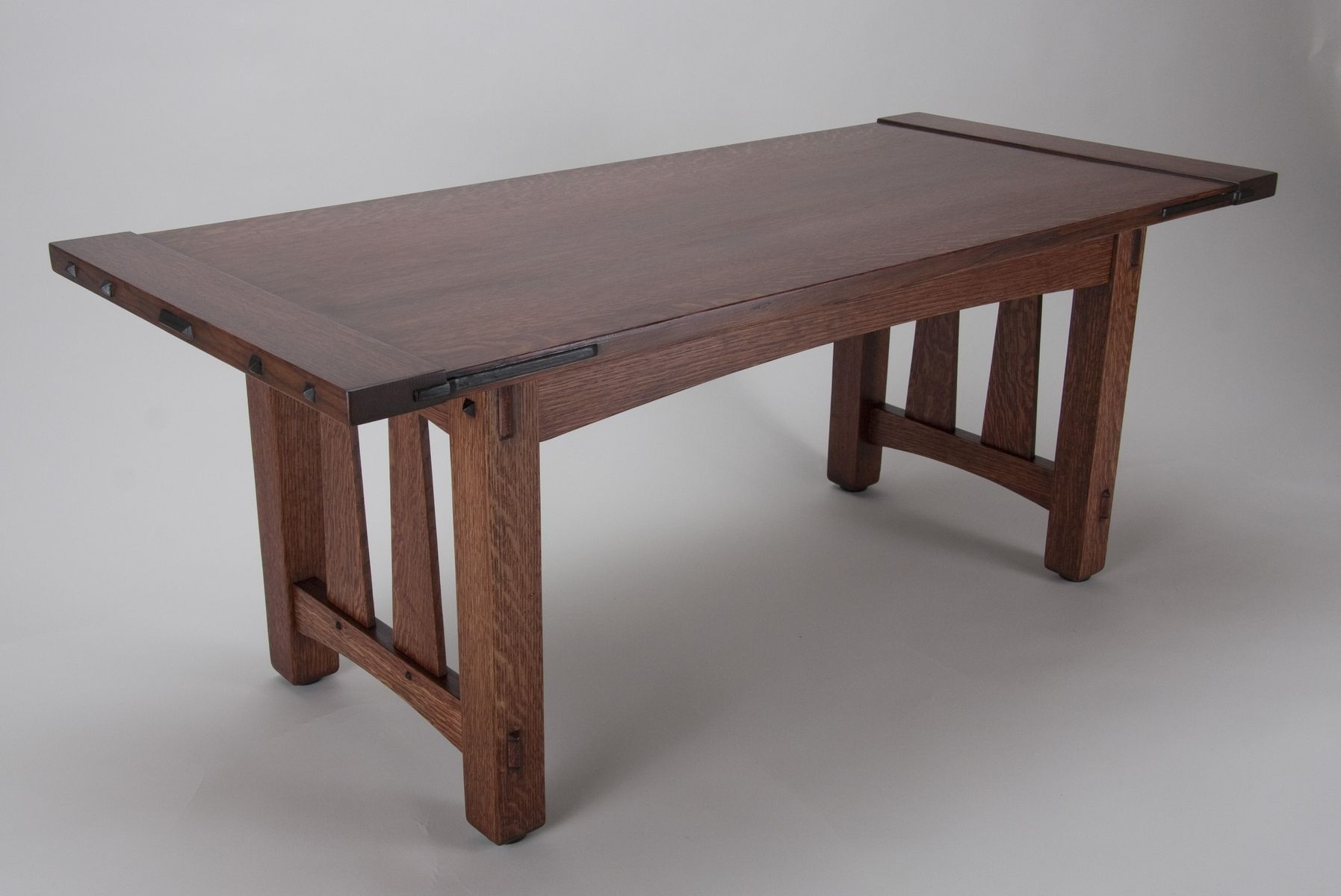 Custom craftsman style coffee table by jro furnituremaker for Mission style dining table