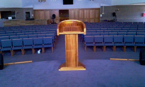Hand Made Koa Church Pulpit By Saw Tooth Designs Llc