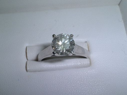 Custom Made 2 Carats Round Diamond Engagement Ring