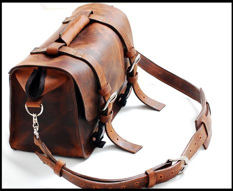 Custom Made Unisex Leather Doctor Bag Professional Bag And Carry All Bag In Full Grain Mustang - The Goliath