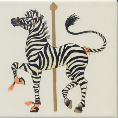 Custom Made Carousel Animals - 6x6 Tiles