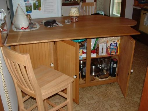 Custom Made Kitchen Island W/ Drop Leaf Sides