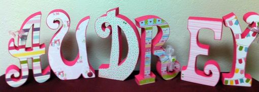 Custom Made Custom Wood Letter Set--13 Letters