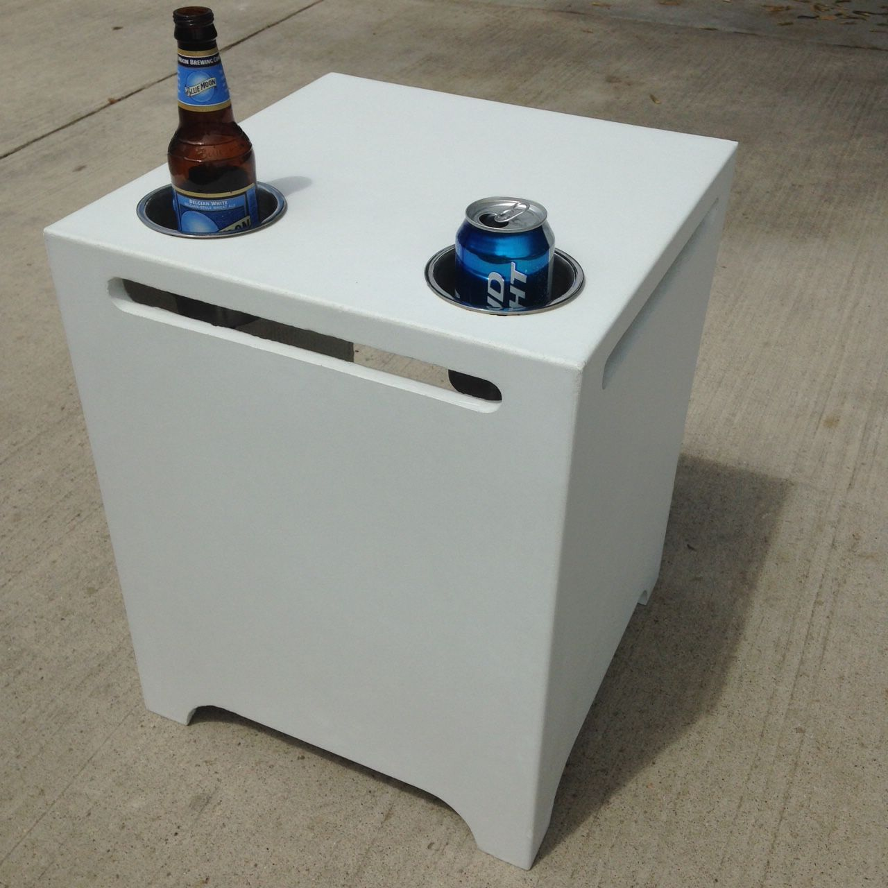 Custom Made Patio End Table Propane Tank Enclosure By
