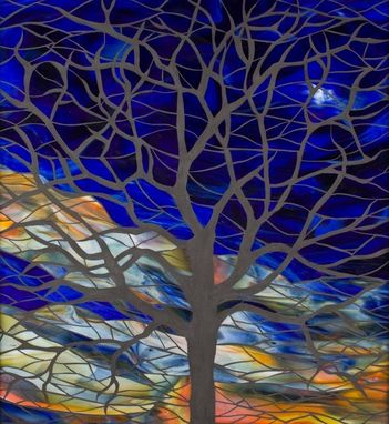 Custom Made From The Window: Sunset Tree