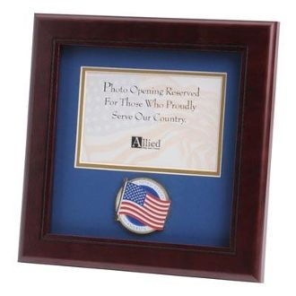 Custom Made American Flag Medallion Landscape Picture Frame 4 By 6