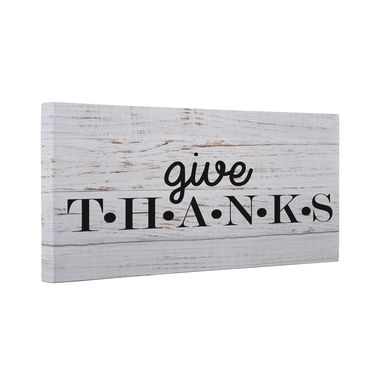 Custom Made Give Thanks Canvas Wall Art