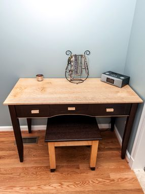 Custom Made Vanity Table And Bench