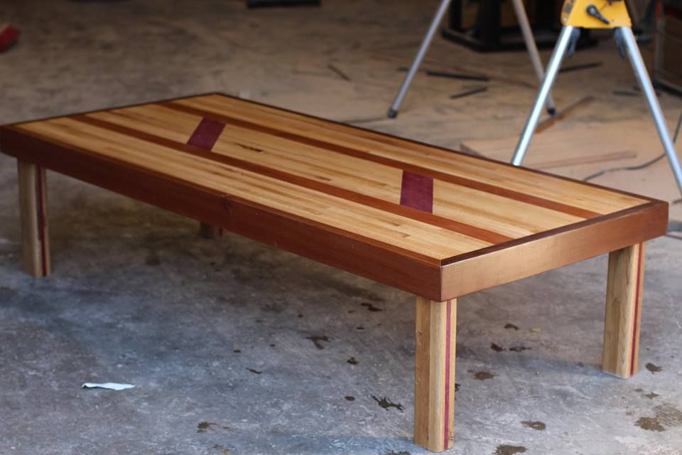 Surprising Hand Crafted Purple Heart Walnut And Ash Table All Interior Design Ideas Gresisoteloinfo