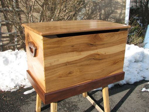 Custom Made English And American Walnut Toy Chest
