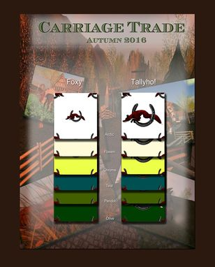 Custom Made Carriage Trade Equestrian Textile Collection
