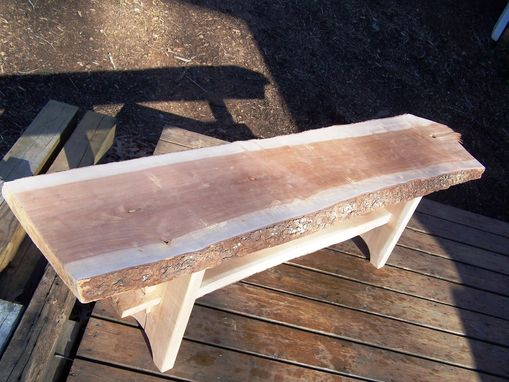 Custom Made Live Edge Cherry Bench