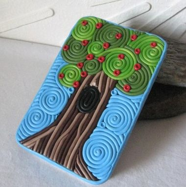 Custom Made Apple Tree Decorative Storage Tin, Cigarette Case Or Wallet