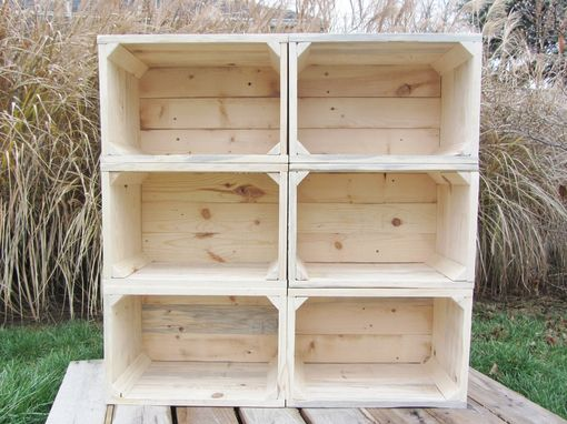 Custom Made Small Wood Crate Stackable Made From Reclaimed Wood Pallets Set Of 6 Crate Set