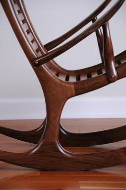 Custom Made Sculpted Rocking Chair