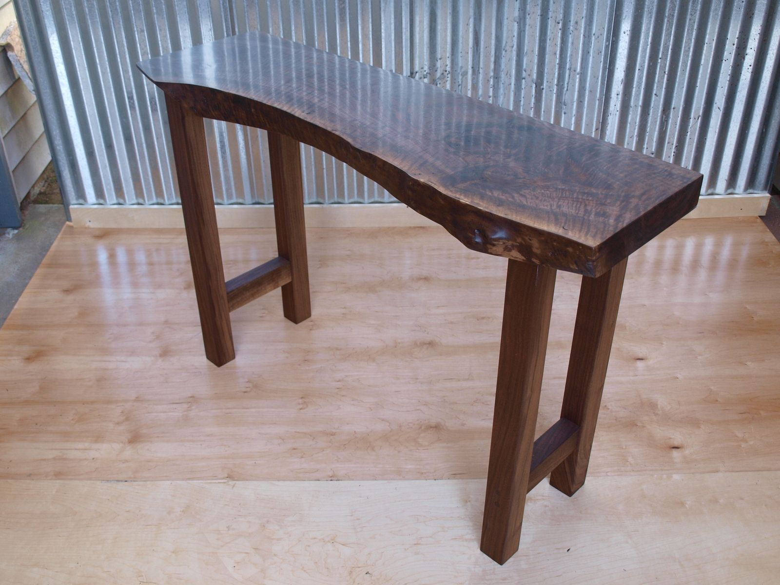 Buy A Custom Made Live Edge Walnut Console Table Made To