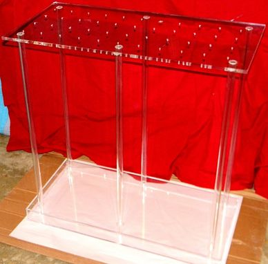 Custom Made Acrylic Table Stand / Centerpiece - Hand Crafted, Custom Sized