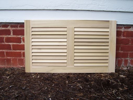 Custom Made Louvered Panel