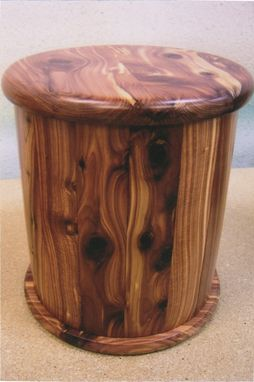 Custom Made Wood Ash Urn