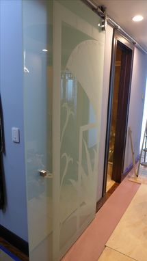 Custom Made Etched Glass Doors
