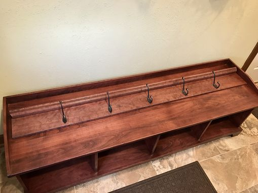 Custom Made Cherry Entryway Bench