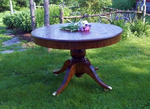 Custom Made Round Pedistal Table In Reclaimed Wood