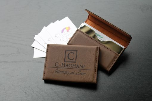 Custom Made Custom Business Card Holder --Bch-Db-C. Haghani
