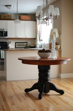 Custom Made Pine And Oak Table