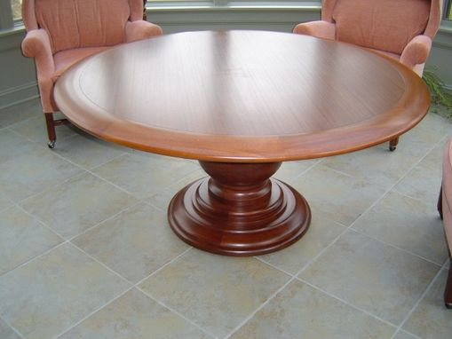 Custom Made Mahogany Round Table