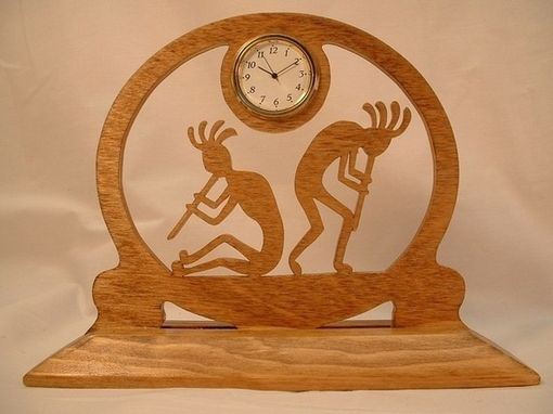 Custom Made Kokopelli Flute Players Desk Clock