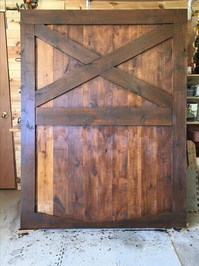 Custom Made Rustic Barndoor Headboard