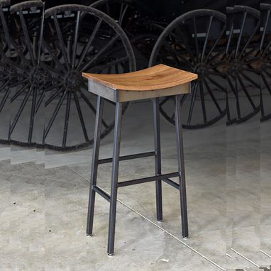 Custom Made Industrial Modern Saddle Stool