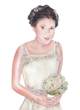Custom Made Custom Portrait Watercolor Painting From Your Vintage Photograph