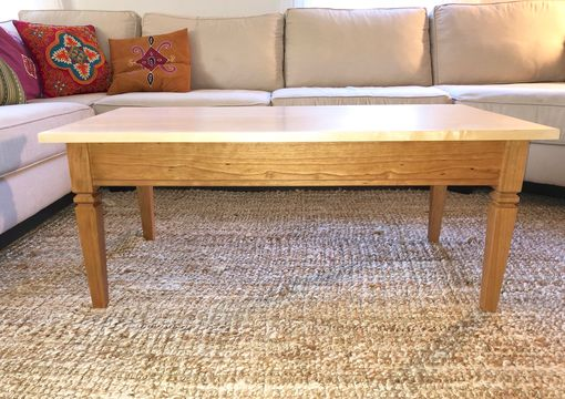 Custom Made Maple And Cherry Coffee Table