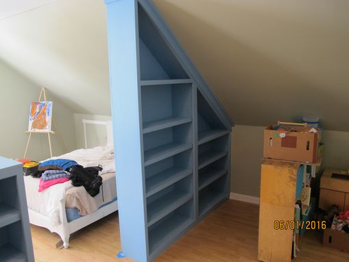 Custom Made Bookshelf Wall Divider