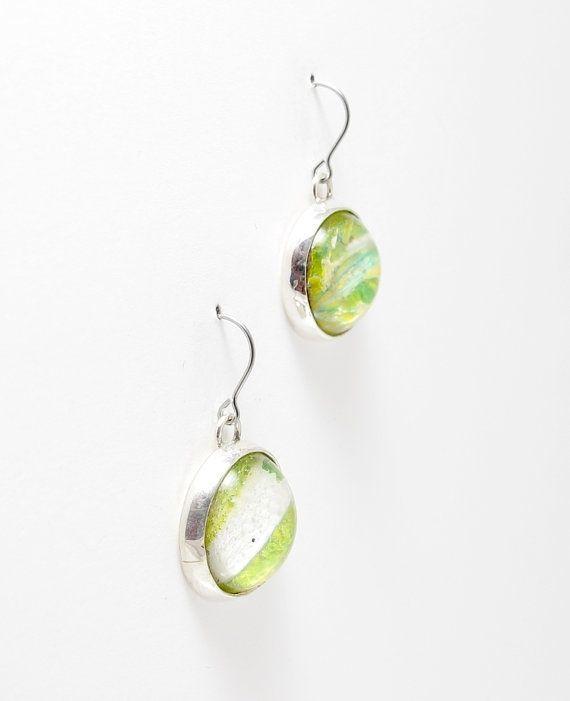 Custom Made Mint Green Dangle Earrings