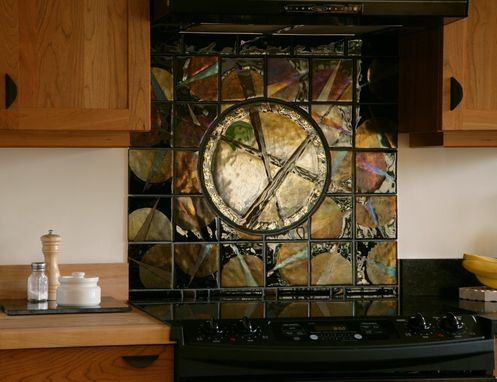 Custom Made Tile Backsplash - Fused Glass