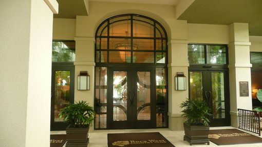 Custom Made Entryway To Boca West Country Club And Entryway Into Club's Dining Rooms And New Divider / Roll-A-Way Partitions.