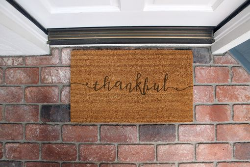 Custom Made Custom Door Mats --Dm-Coir-Thankful