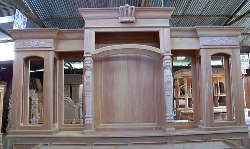 Custom Made Premium Mahogany Carved Traditional Pub Bar (Unfinished - Fine Sanded)