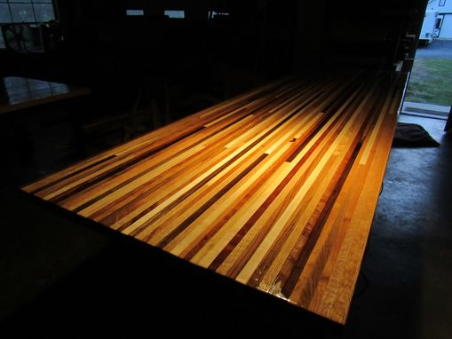 Custom Made Custom Edge Grain Butcher Block Style Counter/ Bar/ Table Top. Multi Species