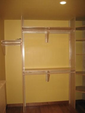 Custom Made Custom Maple Closet